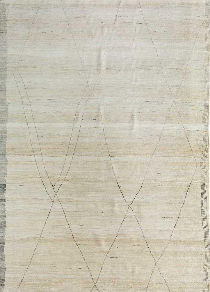 manifest ivory wool hand knotted Rug - HeadShot