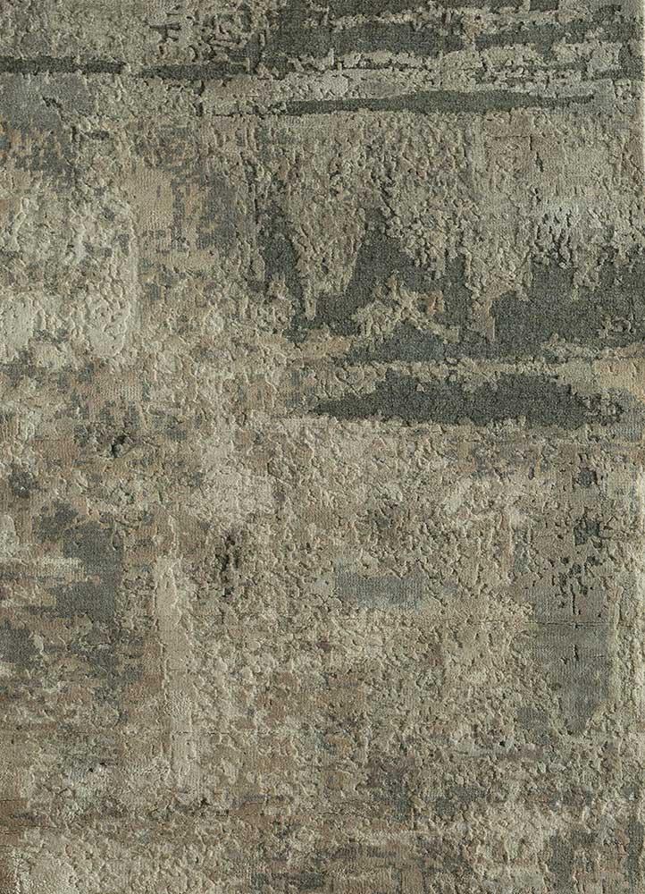 AKWS-3004 Classic Gray/Ashwood grey and black wool and silk hand knotted Rug