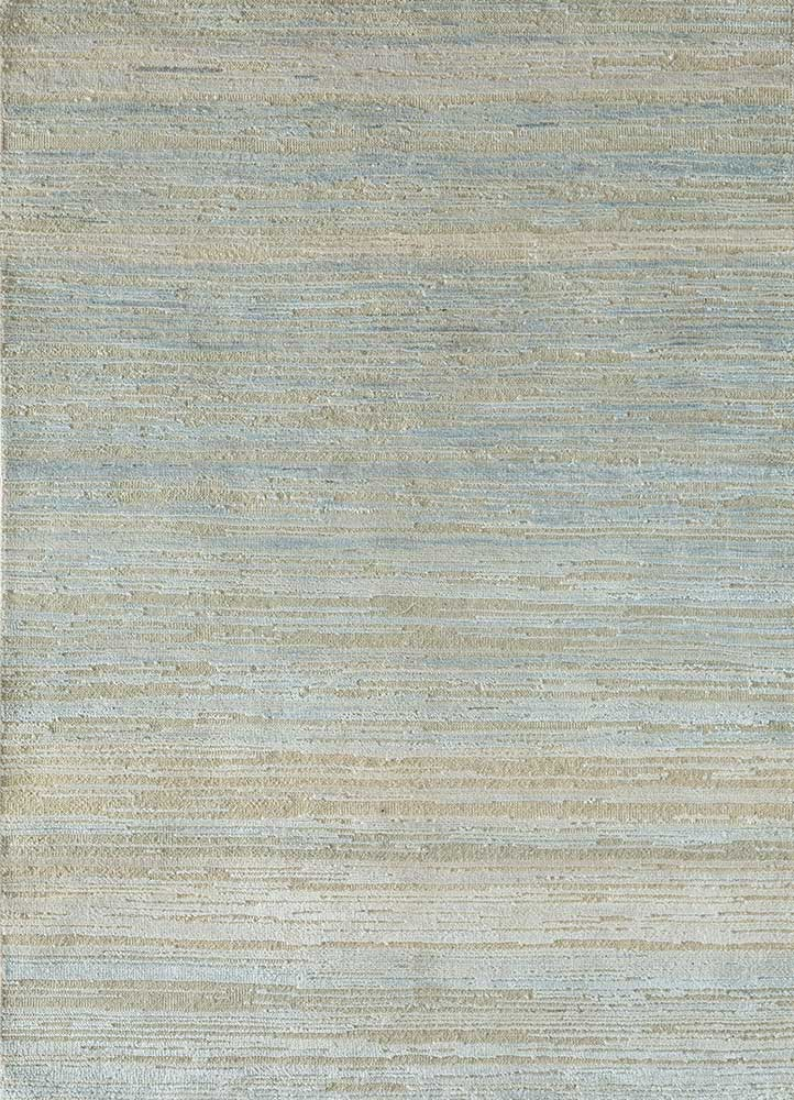 AKWS-3015 Silica Grey/Silica Grey blue wool and silk hand knotted Rug