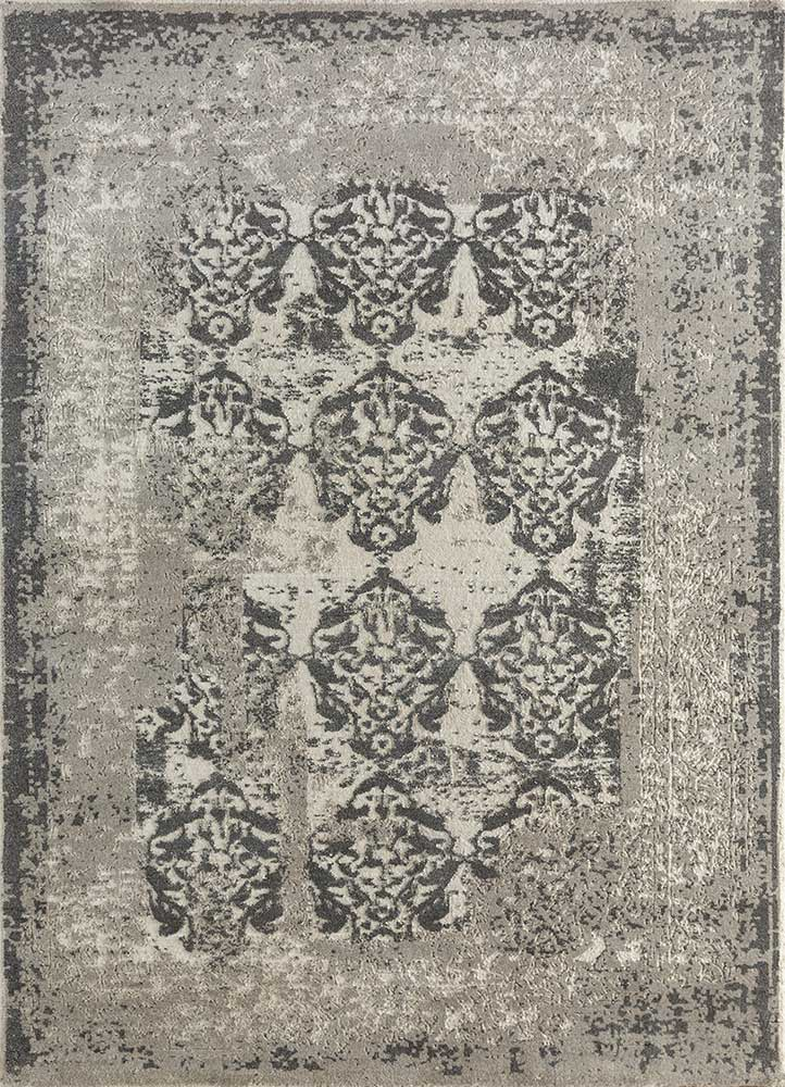 far east ivory wool hand knotted Rug - HeadShot