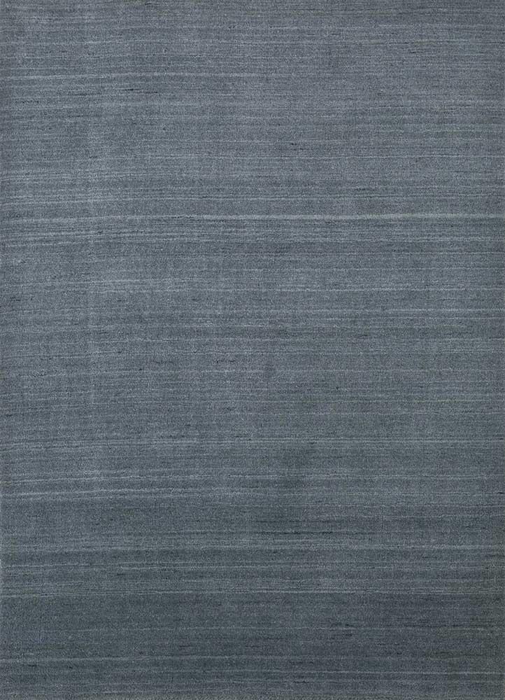 tesoro blue wool and viscose hand loom Rug - HeadShot