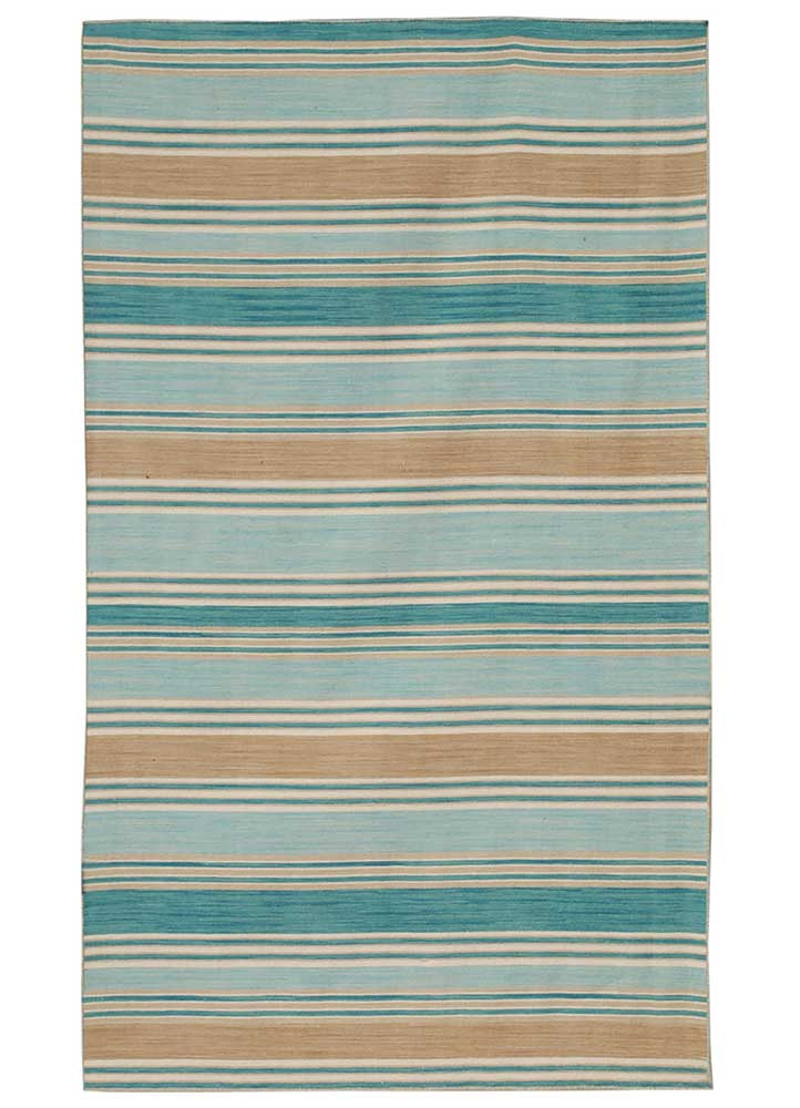 DR-105 Capri/Capri blue wool flat weaves Rug