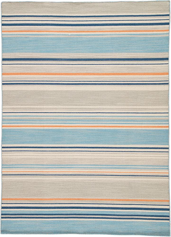 aqua blue wool flat weaves Rug - HeadShot