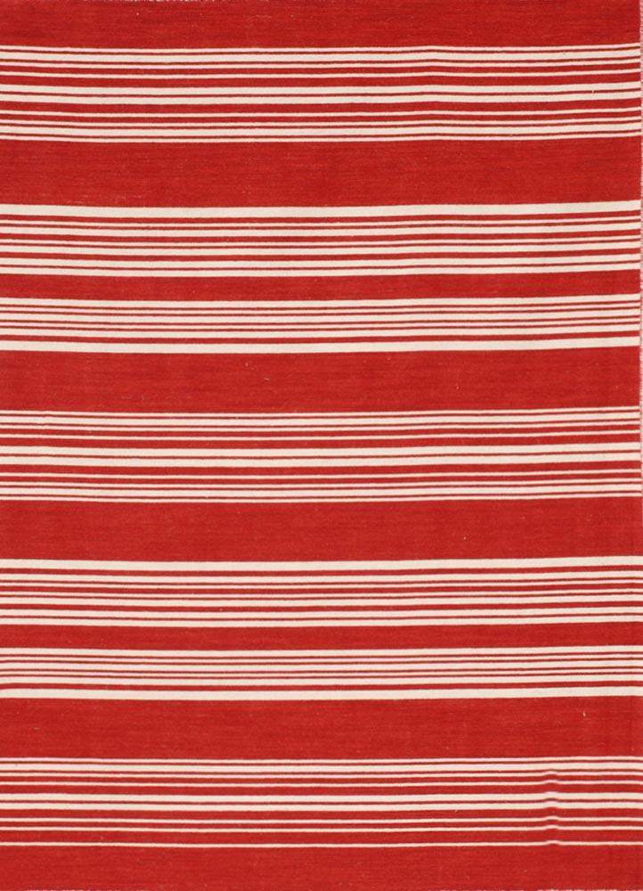 aqua red and orange wool flat weaves Rug - HeadShot