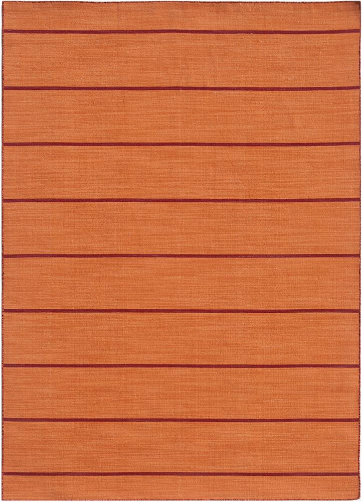 DR-119 Vermillion Orange/Vermillion Orange red and orange wool flat weaves Rug