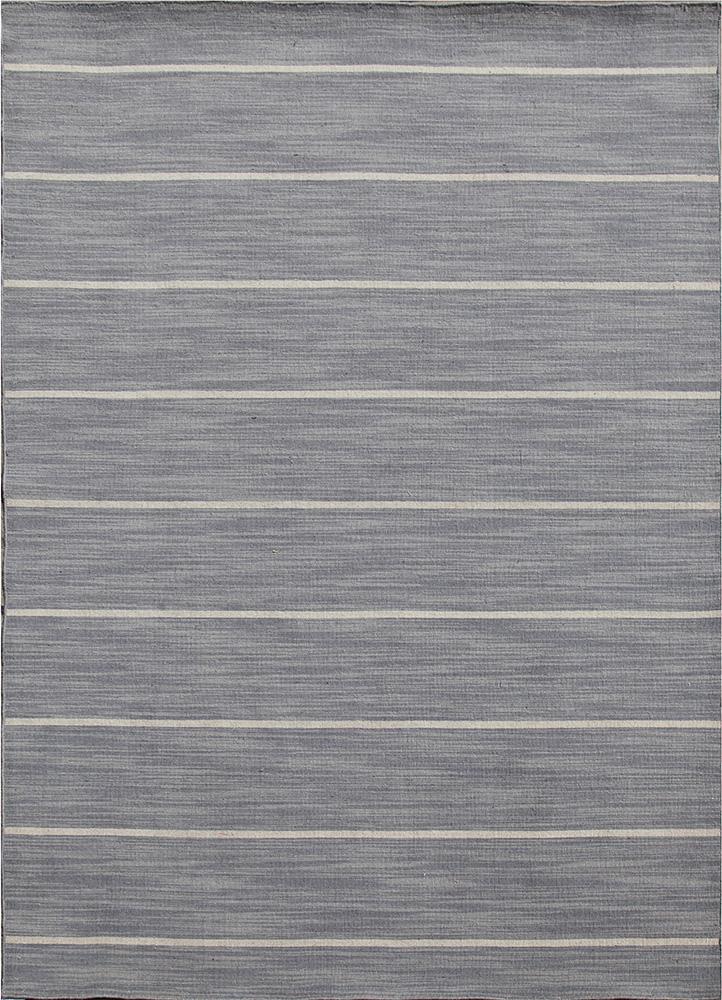 DR-119 Medium Gray/White Ice grey and black wool flat weaves Rug