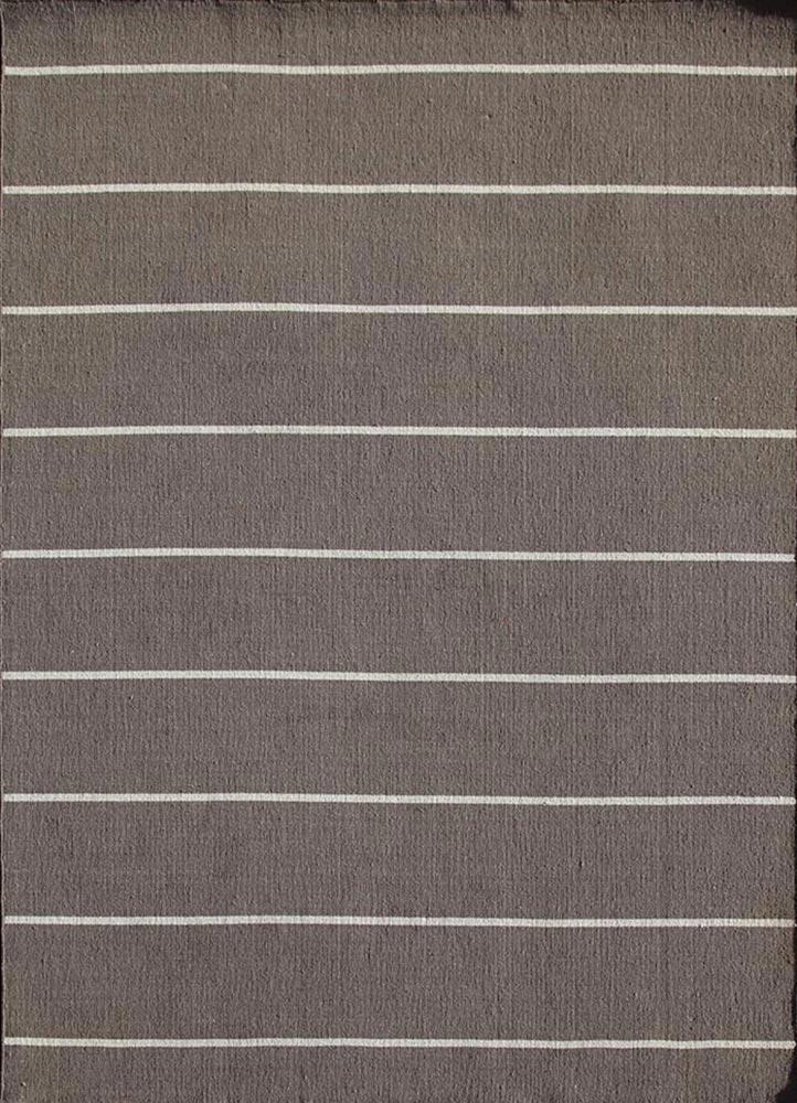 DR-119 Dark Gray/White Ice grey and black wool flat weaves Rug