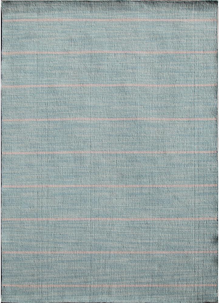 DR-119 Aqua Sky/White Ice blue wool flat weaves Rug
