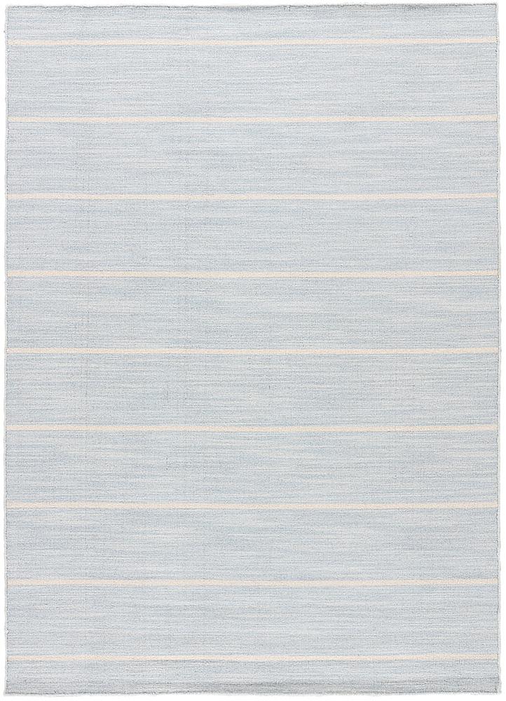 DR-119 Porcelain Blue/White Ice blue wool flat weaves Rug