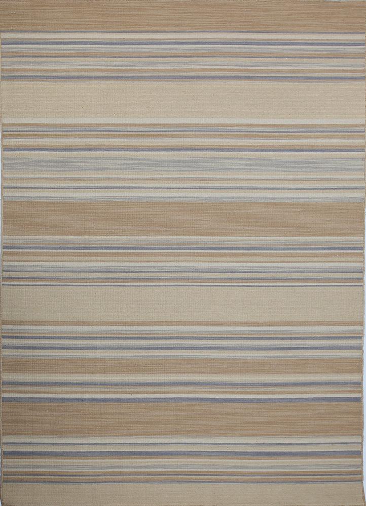DR-124 Peach/Medium Gray beige and brown wool flat weaves Rug