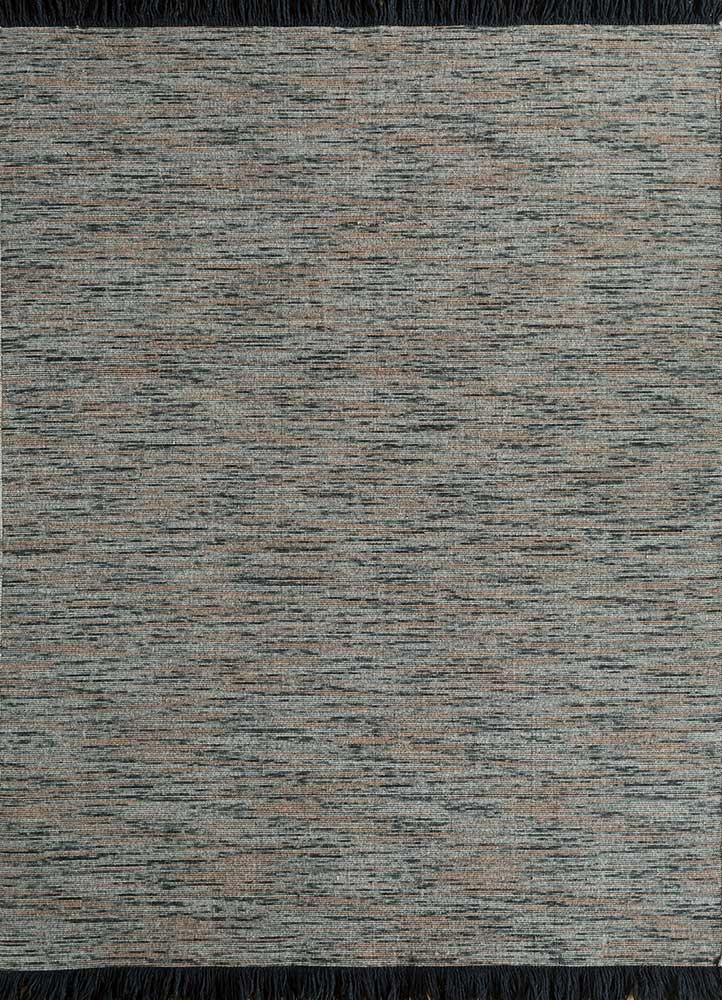 DR-140 Thyme/Rose Petal blue wool flat weaves Rug
