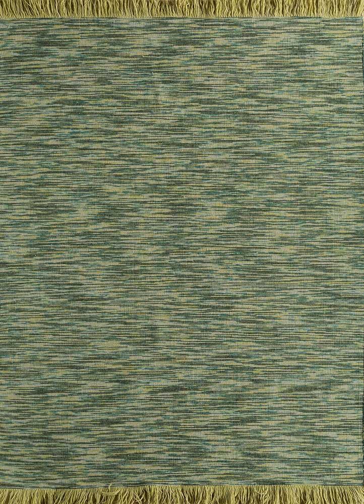 DR-140 Dark Green/Dark Green green wool flat weaves Rug