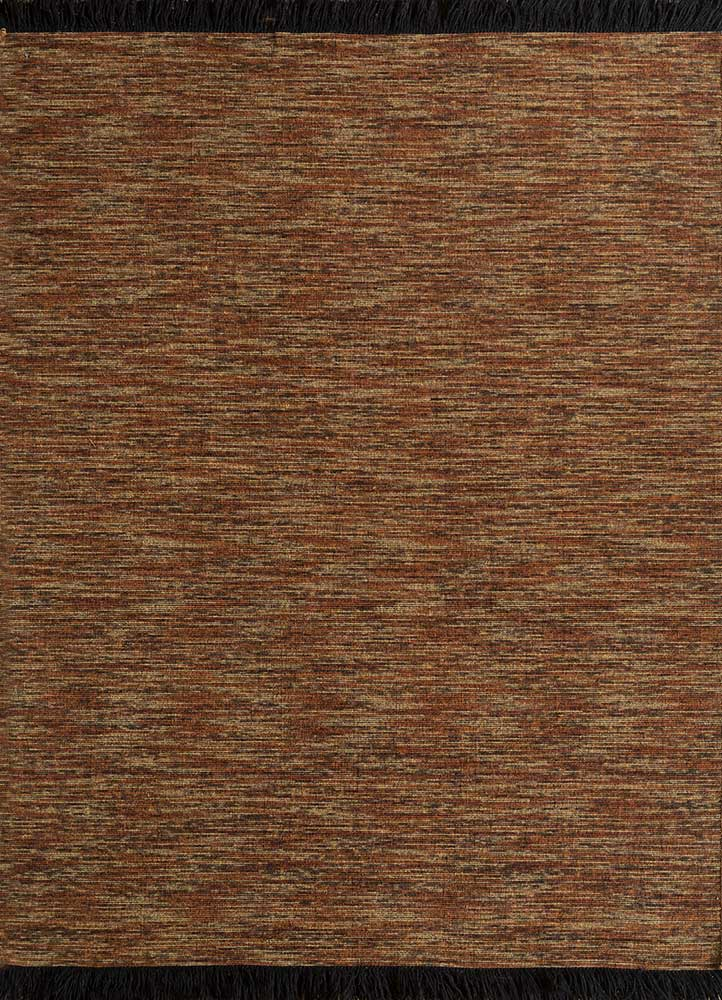 DR-140 Dark Copper/Amber Gold red and orange wool flat weaves Rug