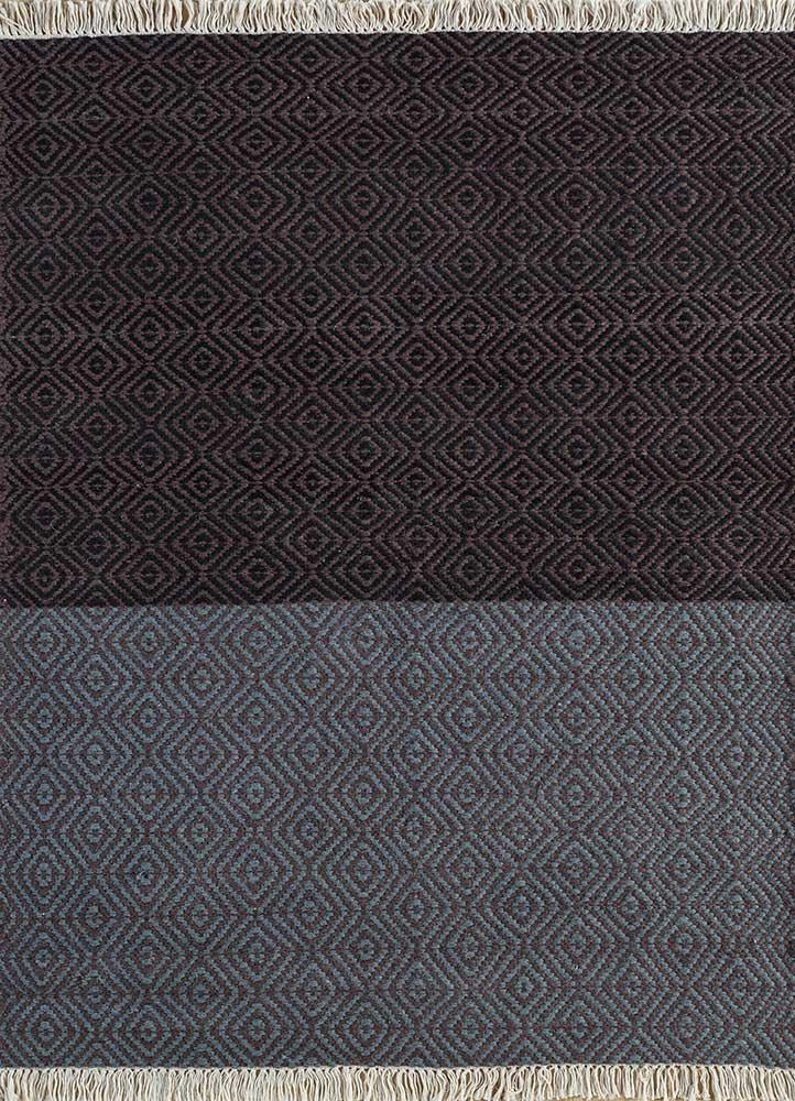 indusbar multi wool flat weaves Rug - HeadShot