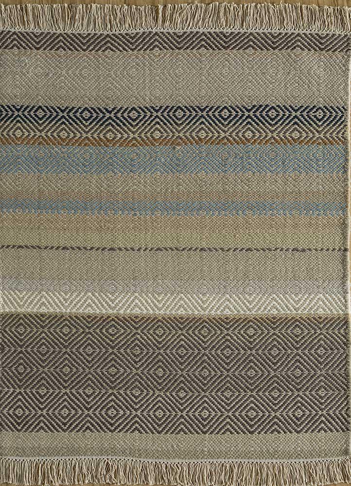 kaross gold wool flat weaves Rug - HeadShot