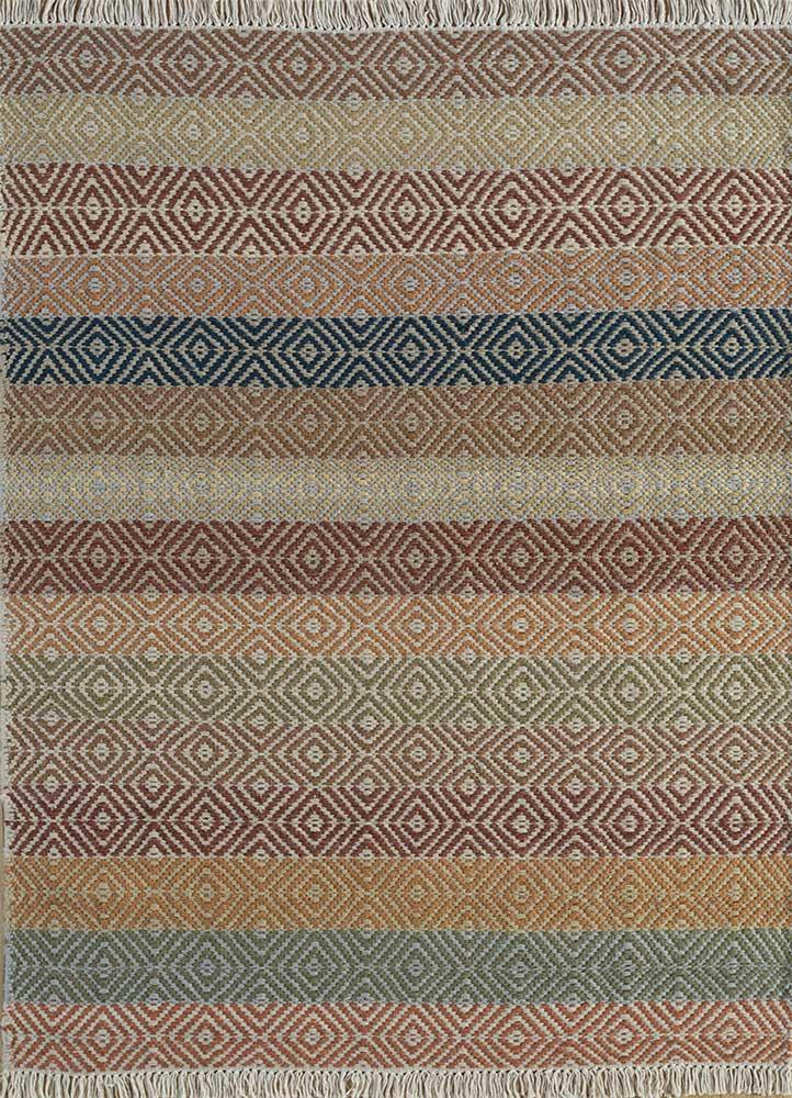 kaross multi wool flat weaves Rug - HeadShot