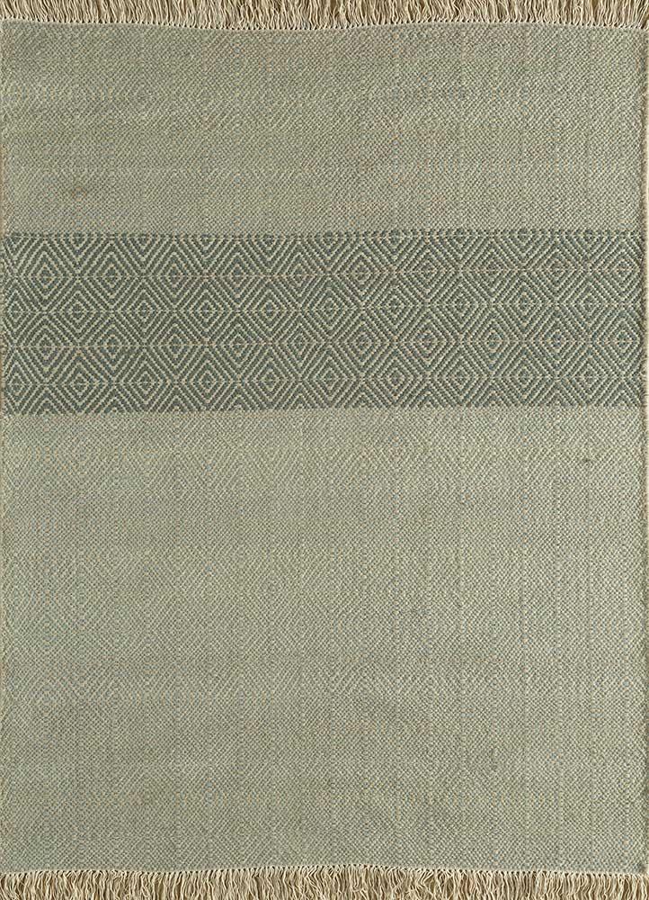 kaross blue wool flat weaves Rug - HeadShot
