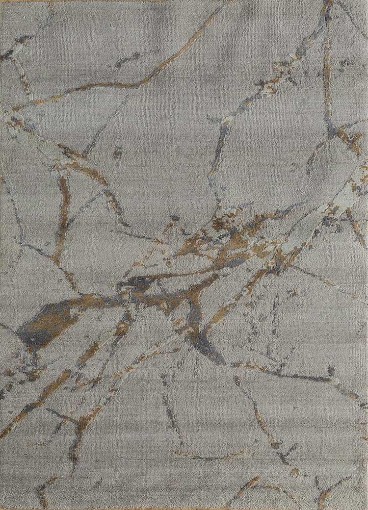 ELA-302 Ashwood/Liquorice grey and black wool and silk hand knotted Rug