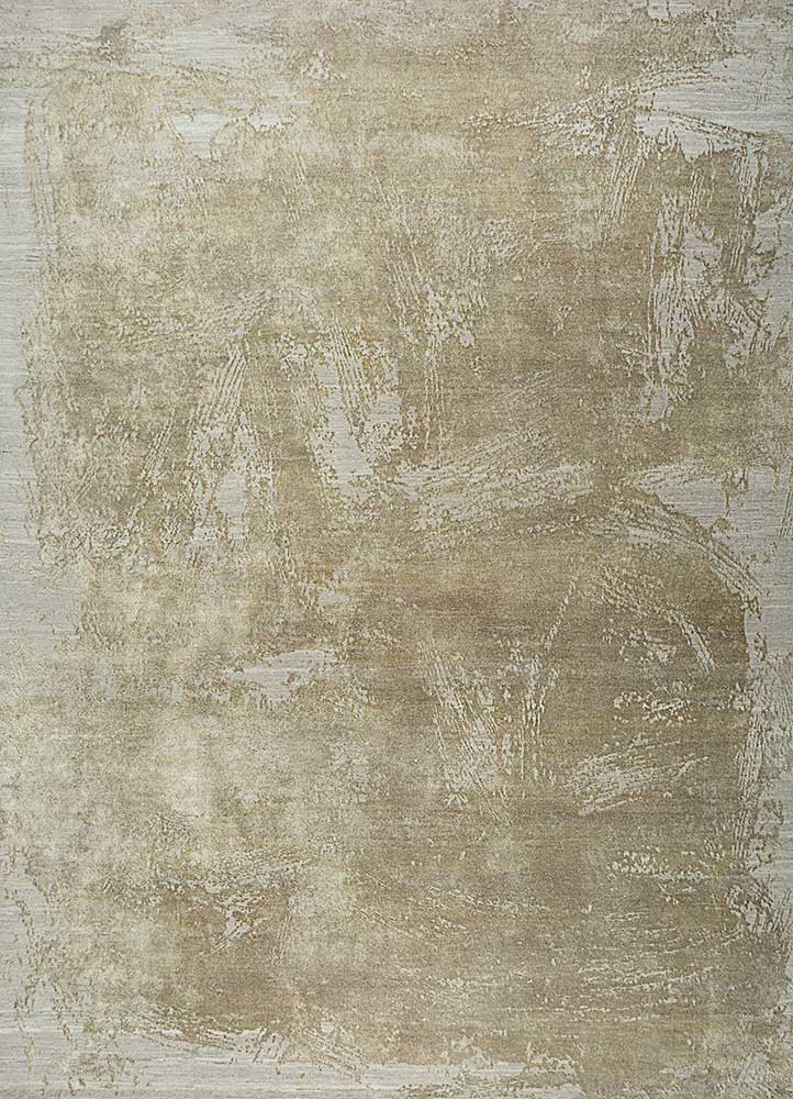 ELA-309 Ivory/Flax ivory wool and silk hand knotted Rug