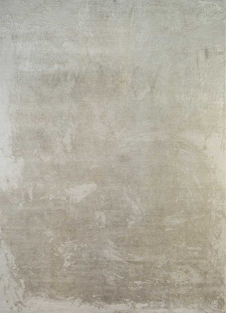 ELA-309 Ivory/Pebble ivory wool and silk hand knotted Rug