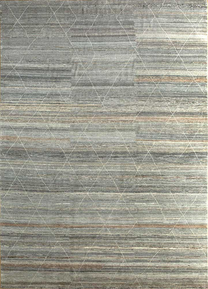 manifest beige and brown wool hand knotted Rug - HeadShot