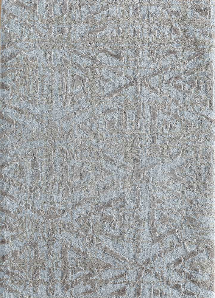 ESK-1508 Blue Blush/Shale blue wool and bamboo silk hand knotted Rug