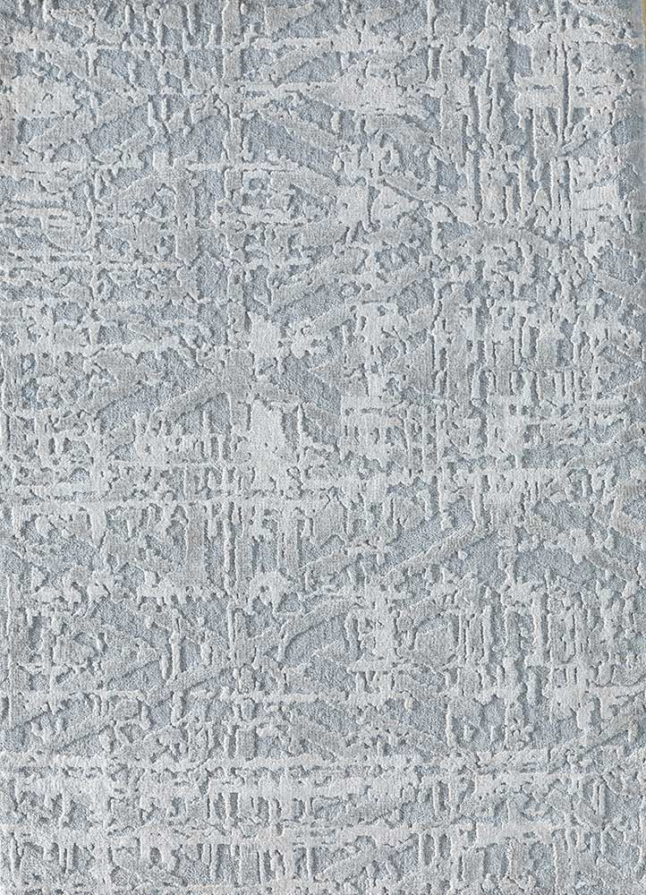 ESK-1508 Blue Blush/White blue wool and bamboo silk hand knotted Rug