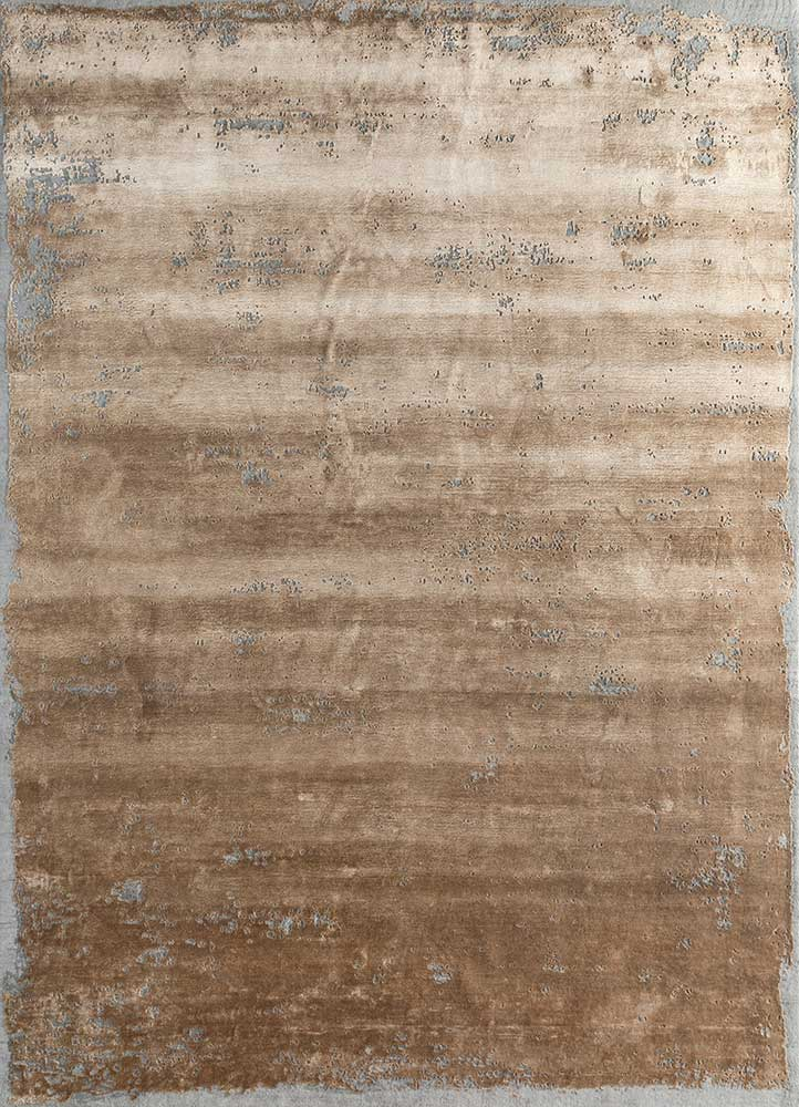 ESK-316 Honey/Ashwood gold wool and bamboo silk hand knotted Rug