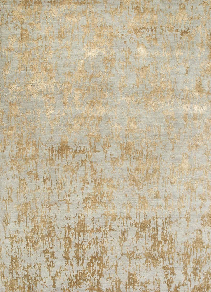 ESK-408 Ashwood/Honey grey and black wool and bamboo silk hand knotted Rug