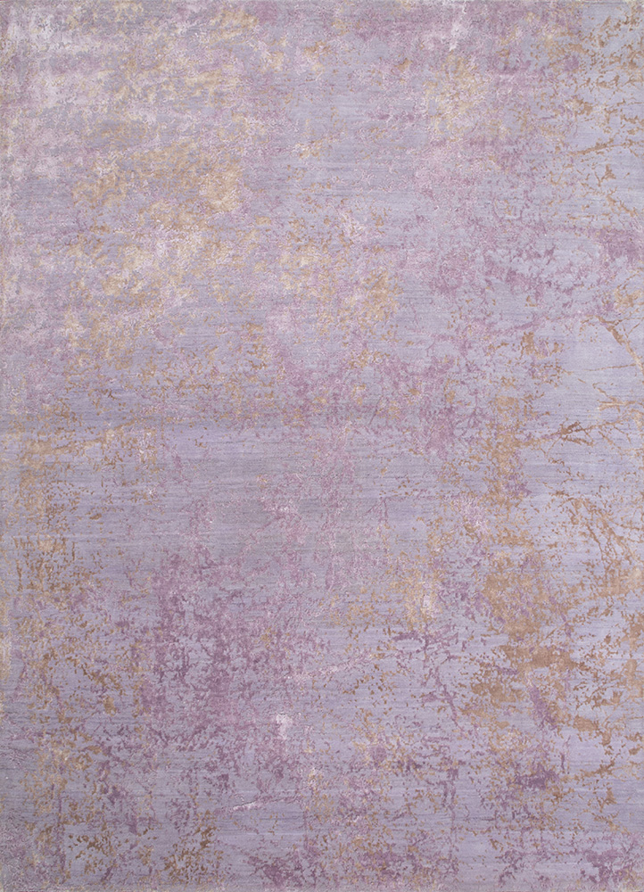 ESK-411 Violet Ice/Lavender Mist pink and purple wool and bamboo silk hand knotted Rug