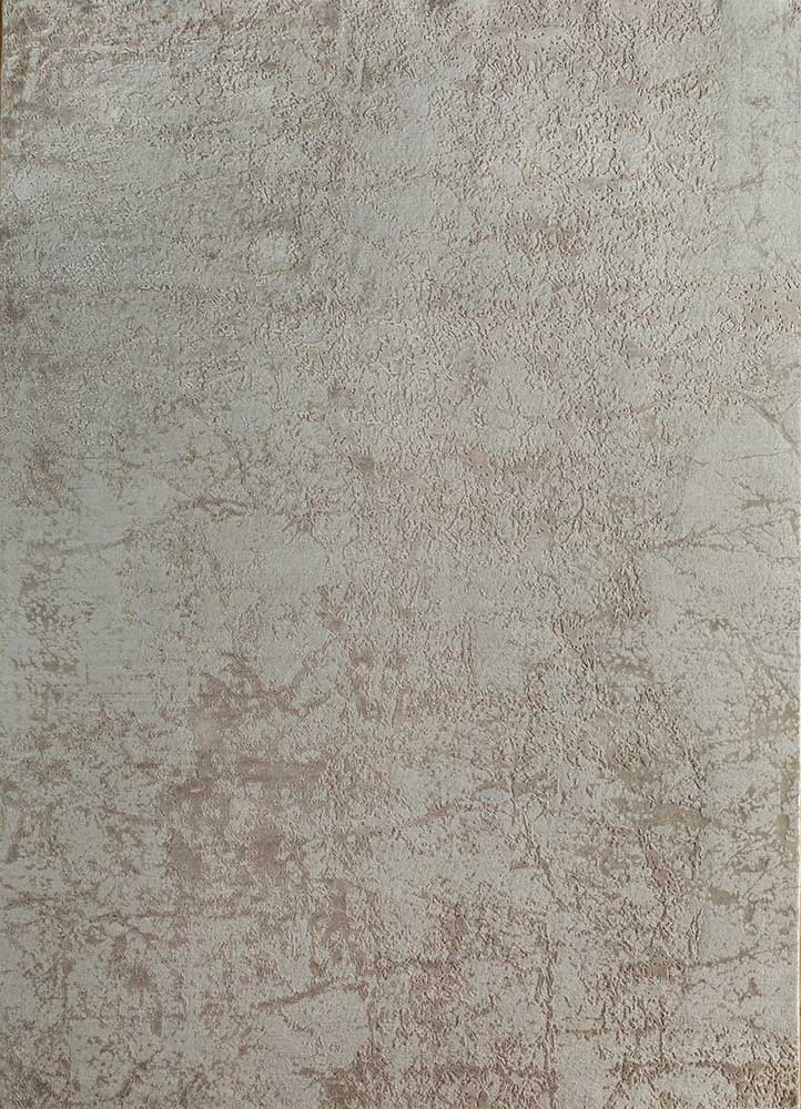 ESK-411 White/White Sand ivory wool and bamboo silk hand knotted Rug