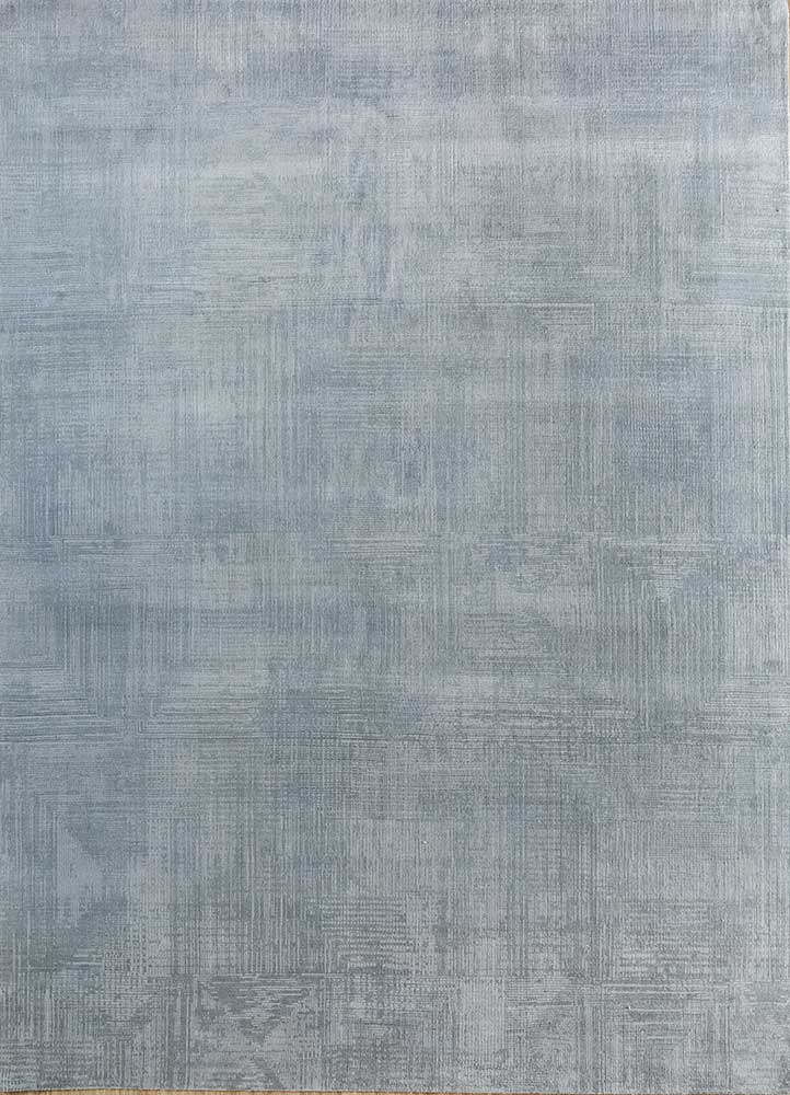 ESK-472 Blue Blush/Pastel Blue blue wool and bamboo silk hand knotted Rug
