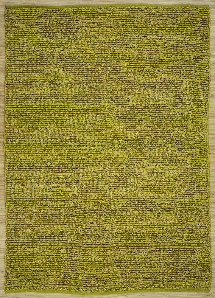 GI-07 Antique Moss/Antique Moss green jute and hemp flat weaves Rug