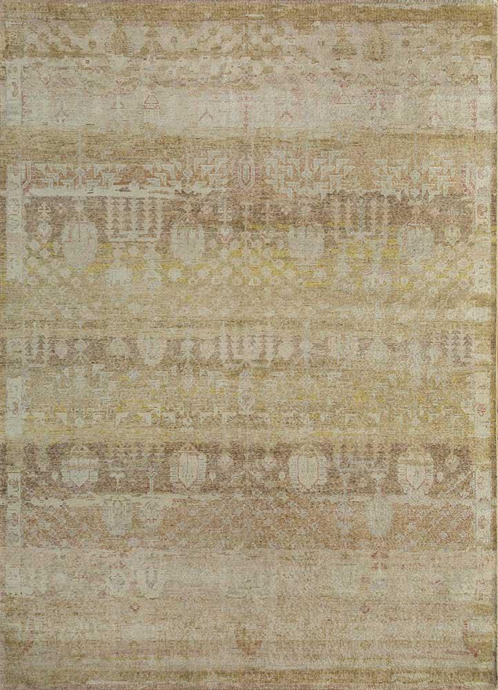 viscaya gold wool hand knotted Rug - HeadShot