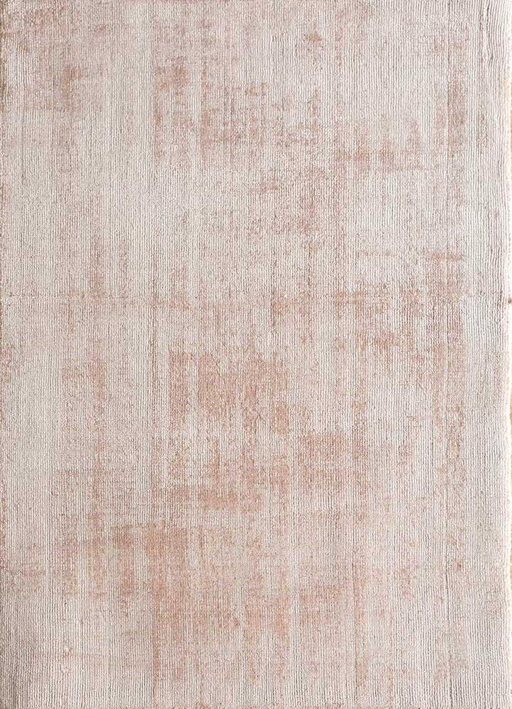 HPV-206 Rose Smoke/Pale Petal Pink pink and purple viscose hand loom Rug
