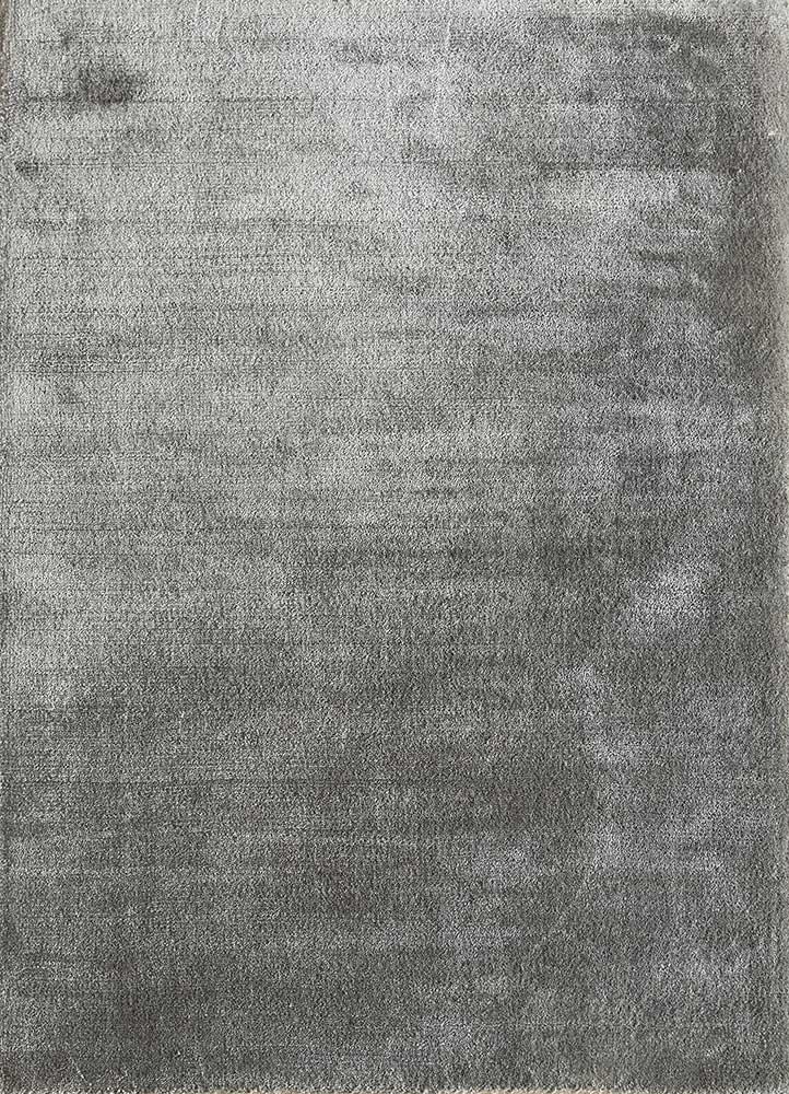 HPV-207 Medium Gray/Medium Gray grey and black viscose hand loom Rug