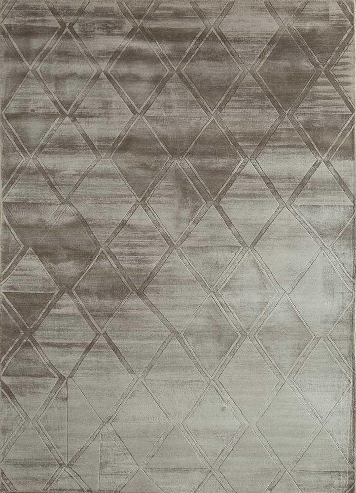 entropy grey and black viscose hand loom Rug - HeadShot