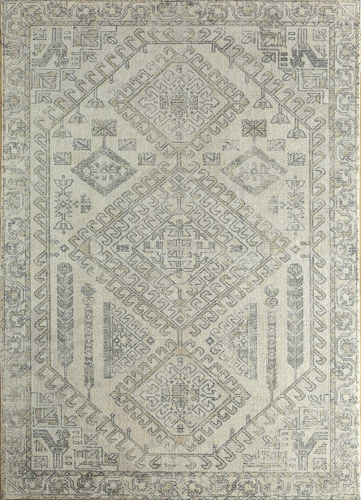 HWB-1001 Dark Ivory/Dark Ivory ivory wool and bamboo silk hand loom Rug