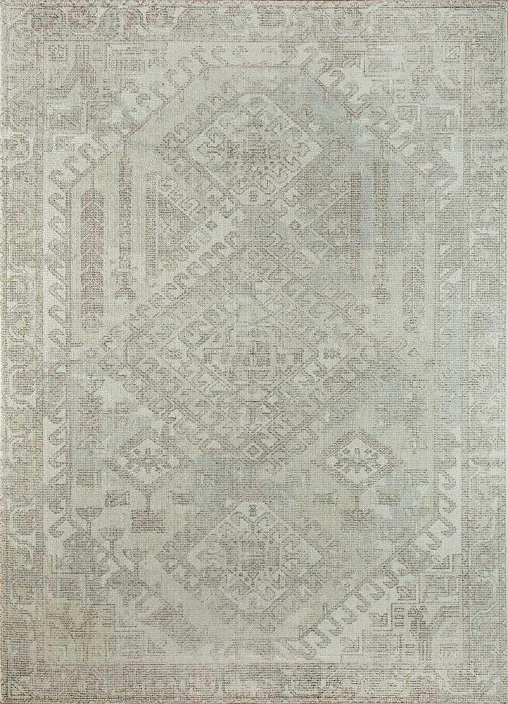 HWB-1001 White/Ashwood ivory wool and bamboo silk hand loom Rug