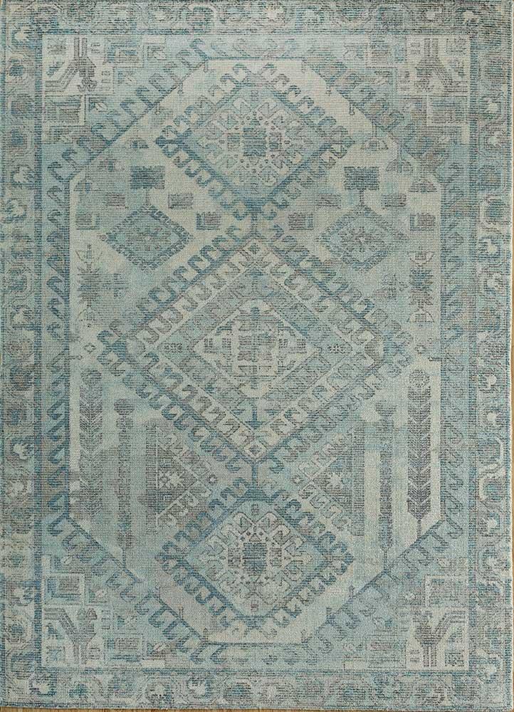 HWB-1001 Beige/Tan beige and brown wool and bamboo silk hand loom Rug