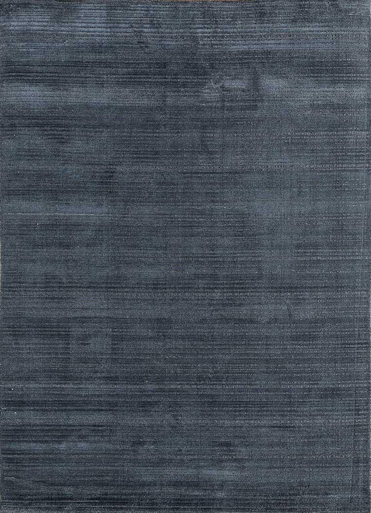 HWJ-01 Ombre Blue/Gravel Gray blue wool hand loom Rug