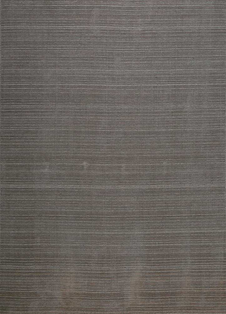 HWJ-01 Silver Gray/Natural Gray beige and brown wool hand loom Rug