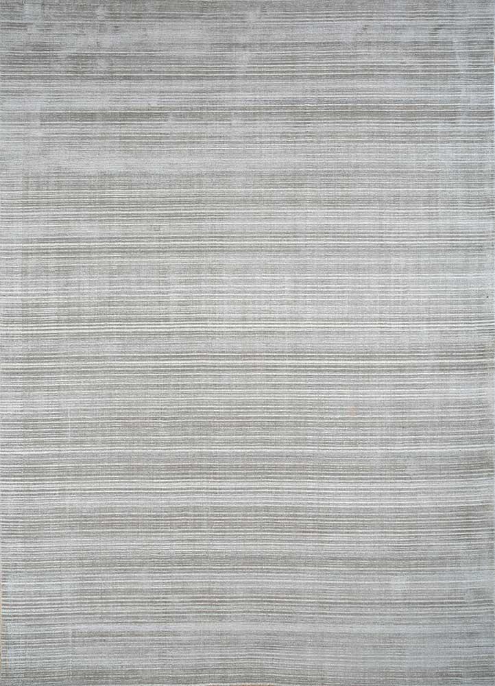 HWJ-01 Nickel/Sterling Silver grey and black wool hand loom Rug