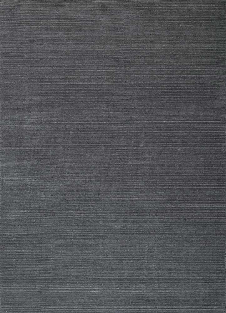 HWJ-01 Baby Blue/Light Smoke Gray blue wool hand loom Rug
