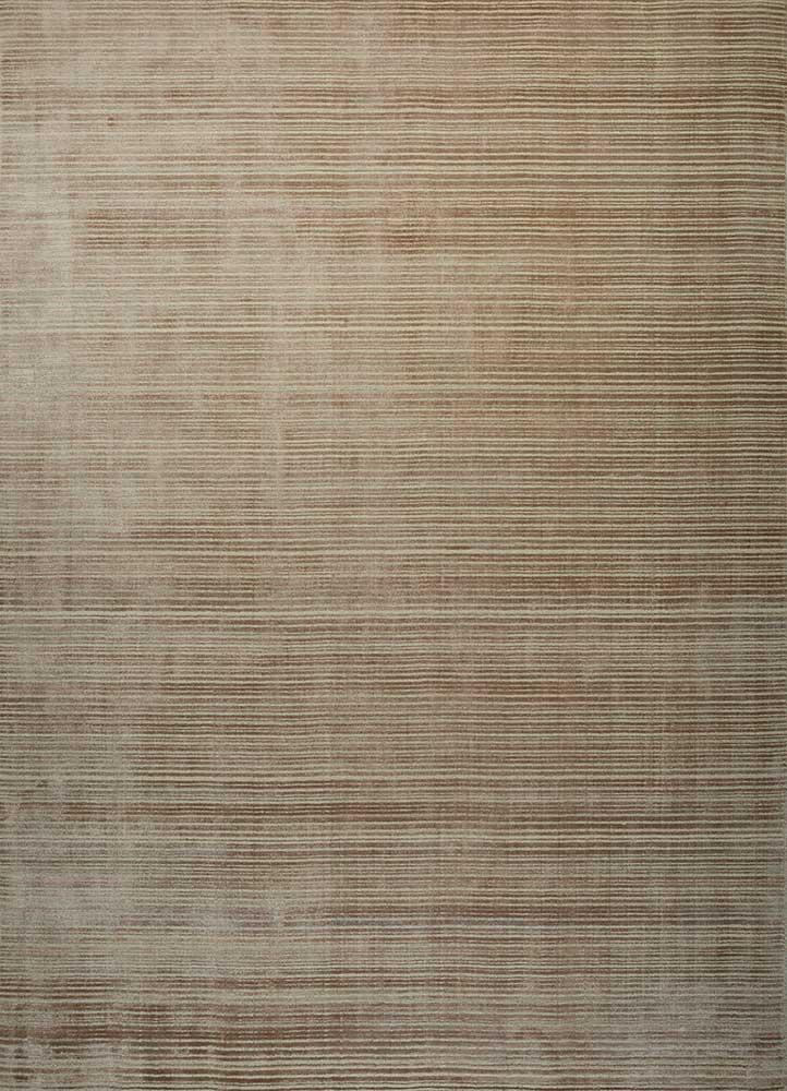 HWJ-01 Gray Brown/Creamy White beige and brown wool hand loom Rug