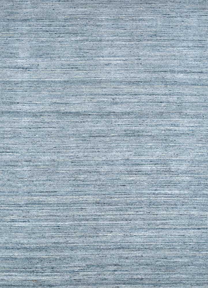 HWV-09 Iced Slate/Iced Slate blue wool and viscose hand loom Rug