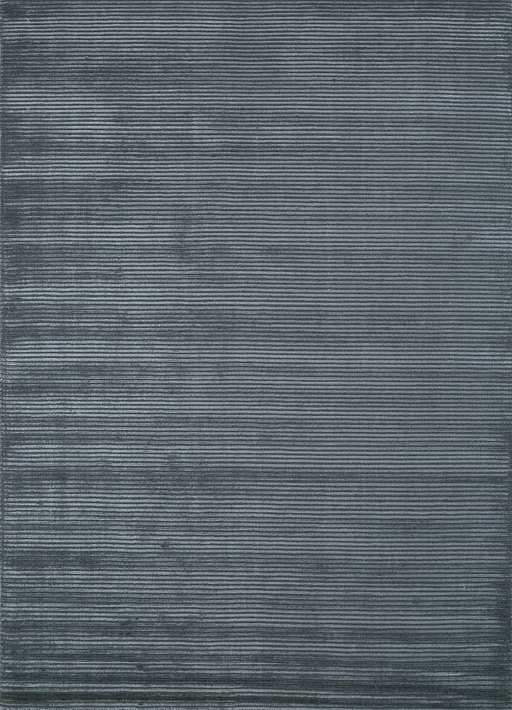 HWV-2000 Liquorice/Liquorice grey and black wool and viscose hand loom Rug
