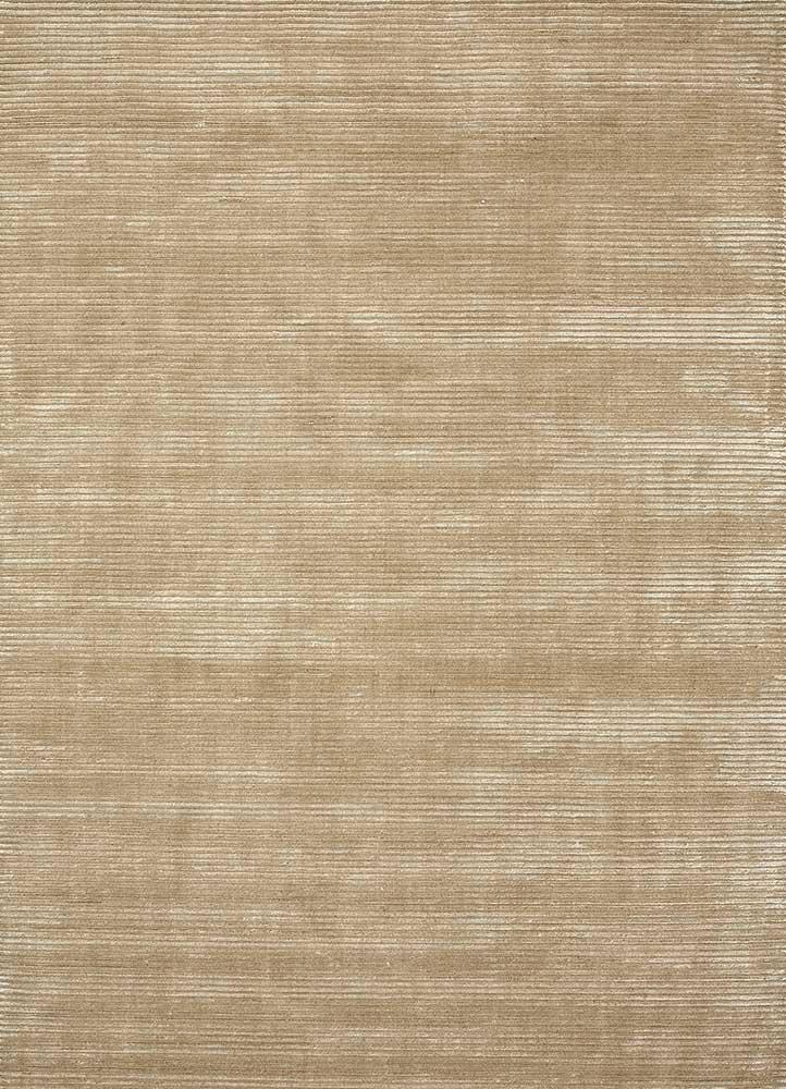 HWV-2000 Beige/Beige beige and brown wool and viscose hand loom Rug
