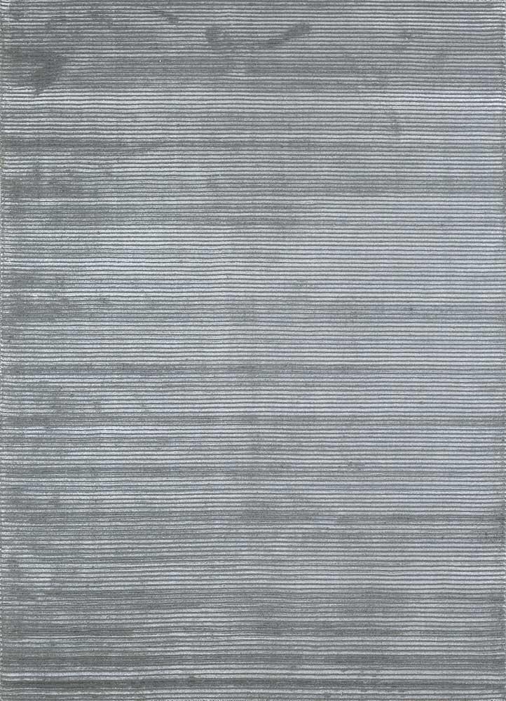 HWV-2000 Charcoal Slate/Charcoal Slate grey and black wool and viscose hand loom Rug