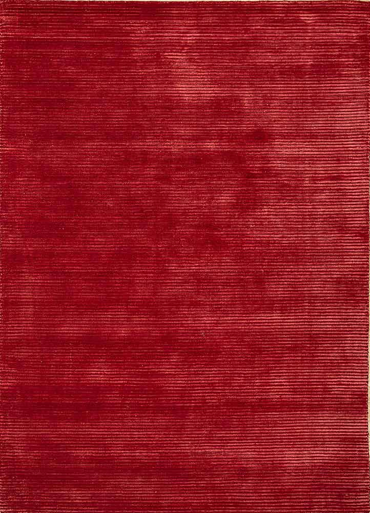 HWV-2000 Deep Crimson/Deep Crimson red and orange wool and viscose hand loom Rug